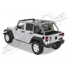"""Bâche """"Windjammer"""" , couleur: Khaki Diamond pour Jeep Wrangler JK Unlimited (4 portes) rideau vertical à l'arrière des sieges arrière"""
