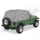 """Housse de stockage """"Trail Cover"""", Couleur: Charcoal (gris), Jeep Wrangler YJ (arceaux en arrondi à l'arrière) housse de stockage, imperméable."""