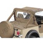 """Couverture de plateau de chargement """"Duster"""" (Vendu sans armature) Couleurs: Black Denim, Jeep CJ7 et Wrangler YJ (permet de garder les fixations de bâche d'origine ou Bestop sous le duster)"""