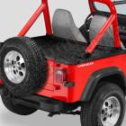 """Couverture de plateau de chargement """"Duster"""" (vendu avec armature) Couleur: Black Crush, Jeep CJ7 et Wrangler YJ (sans pouvoir garder l'armature de la bâche dessous)"""