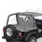 """New Old Stock: Couverture de plateau de chargement """"Duster"""" (vendu sans armature) Couleur: Gris, Jeep Wrangler YJ"""