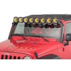 """Rampe de 8 phares LED de 50"""" complète KC pour Jeep Wrangler JK"""