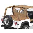 """Couverture de plateau de chargement """"Duster"""" (vendu sans armature) Couleur: Spice , Jeep Wrangler YJ (permet de garder les fixations de bâche Bestop sous le duster)"""