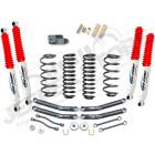 """Kit réhausse de suspension +4"""" (+10cm) Pro Comp pour Jeep Wrangler TJ (série 1) Kit vendu avec; 4 amortisseurs à gaz Pro COmp ES9000 4 ressorts 4"""" 4 tirants de pont inférieur 2 biellettes de barre stabilisatrice avant 2 biellettes de barre"""