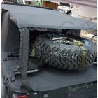 Fixation de roue de secours Spider Rack Suntop Jeep Wrangler JK (2 ou 4 portes)