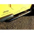 Kit marche pieds tubulaire noir Jeep Wrangler YJ, TJ