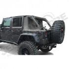 Bâche complète Suntop Cargo Top U4, couleur: Khaki (Green Military) pour Jeep Wrangler JK Unlimited (4 portes)