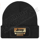 Bonnet Jeep, noir écrit en noir et doré