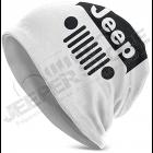 Bonnet Jeep blanc écrit en noir