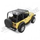 Bikini version ''Safari'' couleur: black MESH (Filet) Jeep Wrangler YJ