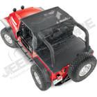 Bikini version ''Safari'' couleur: black MESH (Filet) Jeep Wrangler JK (2 portes)