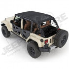 Bikini version ''Safari'' couleur: black MESH (Filet) Jeep Wrangler JK Unlimited (4 portes)