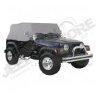 """Housse de voiture """"Trail Cover"""", Couleur: Charcoal (grise), Jeep Wrangler TJ"""