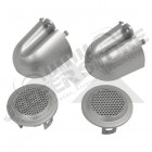 Tweeter Covers (Brushed Silver)