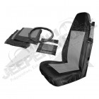 Front Seat Cover Set (Black/Gray)