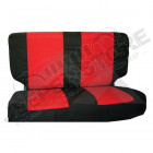 Rear Seat Cover Set (Black/Red)