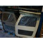 Occasion: Kit de 2 portes en toiles (couleur: Simili cuir, skill blanc) Jeep CJ7 et Wrangler YJ