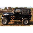 """Autocollant """"Jeep"""" , couleur argent il ce trouve sur le coté de la caisse des Wrangler YJ, TJ et CJ"""