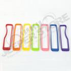 Kit d'inserts multicolore (enjoliveurs) de calandre pour Jeep Wrangler JL