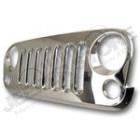 Enjoliveur de calandre en acier inox pour Jeep Wrangler JK