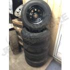 Lot de 5 roues complètes neuves (prêtes à monter) pneus Kumho Road Venture 225/75R16 et jantes Modular noire 5x114.3 - 8x16