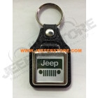 Porte clef Jeep (carré blanc et vert)