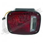 Feu arrière gauche (avec éclaireur de plaque) (version US) rouge et blanc pour Jeep CJ, Wrangler YJ, TJ