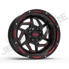 Jante alu Grid (noir et rouge) 9x17 - 5x114.3 - ET: -12