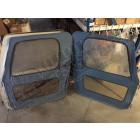 Occasion: Kit de 2 portes en toiles (coin carrés) (couleur: bleu) Jeep CJ7 et Wrangler YJ