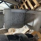 Occasion: Siège avant passager en tissu gris (taché sur assise, pris l'eau) Jeep Wrangler JK (phase 1)