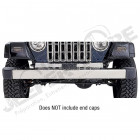 Bumper, Front, Without Holes, Stainless Steel; 97-06 Jeep Wrangler TJ