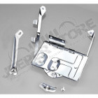 Battery Tray Kit, Stainless Steel; 76-86 Jeep CJ