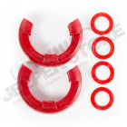D-Ring Shackle Isolator Kit, Red Pair, 7/8 inch