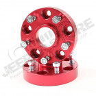 Wheel Spacer Kit, 1.25 Inch, Red, 5x5; 99-04 Jeep Grand Cherokee WJ