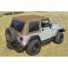 XHD Soft Top, Bowless, Spice; 97-06 Jeep Wrangler TJ