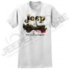Tee shirt Jeep , blanc / camouflage Willys, taille XL