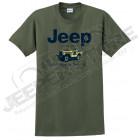 Tee shirt Jeep Kaki Willys, taille L