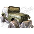 Peinture militaire synthétique kaki olive drab pot de 1.2kg Jeep Willys EARLY, MB, GPW, M38, M38A1, M201, CJ2B, CJ2A, CJ3B, CJ5, CJ6