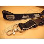 Tour de cou noir, porte clef Jeep