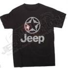 "Tee-shirt Jeep noir ""sylver metallic"", unisex, taille M"