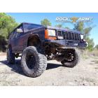 Pare chocs avant acier avec porte treuil (modèle EXT) Rock Army Jeep Cherokee XJ