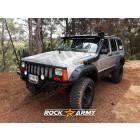 Pare chocs avant acier avec porte treuil (modèle INT) Rock Army Jeep Cherokee XJ