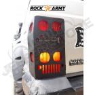 Protection acier de feux arrière (la paire) Jeep Cherokee XJ