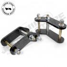 """Kit de jumelles rallongées boomerang avant +1.75"""" (+4.45cm) pour Jeep CJ5, CJ7 et CJ8"""