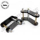 """Kit de jumelles rallongées boomerang arrière +1.75"""" (+4.45cm) pour Jeep CJ5, CJ7 et CJ8"""