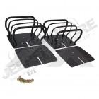Kit protections de feux arrière acier noir Jeep CJ, Wrangler YJ et TJ