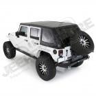 Hard Top Smittybilt Fastback complet noir Jeep Wrangler JK Unlimited 4 portes