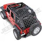 Filet de protection (cargo netz) pour Jeep Wrangler JK unlimited (4 portes)