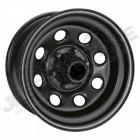 Jante acier modular noir Soft8 8x17 / 5x127 / ET: +10 / profondeur: 10.40cm (pour Jeep Wrangler JK , Jeep Grand Cherokee WJ, WG, Grand Cherokee WH, WK, ... )