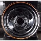 Jante directionnal noir avec liseré orange, 5x114.3 , 8x15 , ET: 0